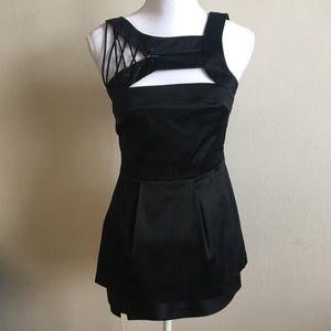 NWOT BCBGMaxAzria Black Silk Lace Dress